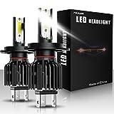 Lampadine per fari a LED H4 ha condotto la luce per auto 60W 12000Lumens Fari impermeabili super luminosi Conversione temperatura di colore 6500K IP65