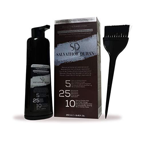 Salvathor Duran - Tinte Para Canas y Barba Para Hombre - 25 Aplicaciones - Resultado Natural y Gradual - 250 ml.