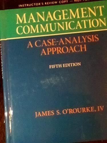 I.e. Management Communication 5th.ed. Hardcover