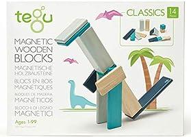 14 Piece Tegu Magnetic Wooden Block Set, Blues
