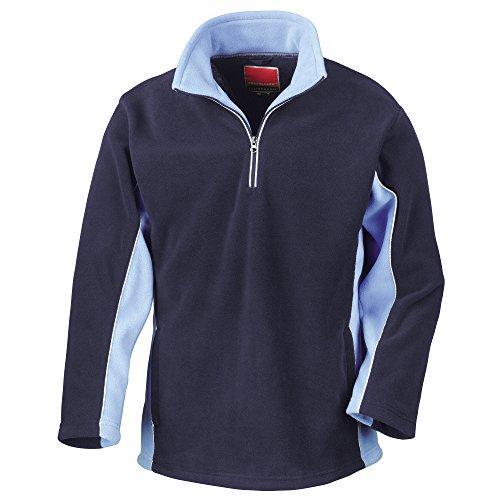Result Tech3 Herren Sport Fleece-Pullover / Fleece-Oberteil, wasserabweisend, winddicht, Antipilling XXL,Marineblau/Himmelblau
