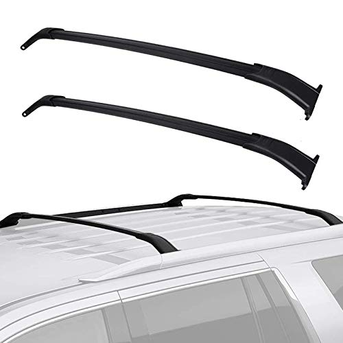 Cross Bars Roof Racks Compatible for 2015-2020 GMC Yukon/Chevrolet Tahoe/Chevy Suburban/Cadillac Escalade, Aluminum Rooftop Cargo Bag Carrier Luggage Crossbars Carrying Canoe Kayak Bike