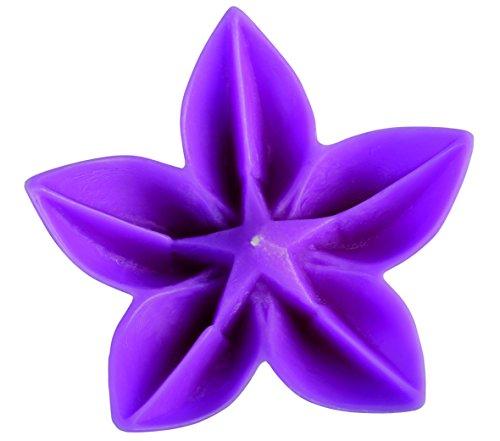 Vela Flor,Vela Flotante de jardín con Forma de Flor. Medidas de la Vela Flor,15, 5X 5,5cm Tenemos Tres Colores, Naranja, Lila y Azul. (Violeta)
