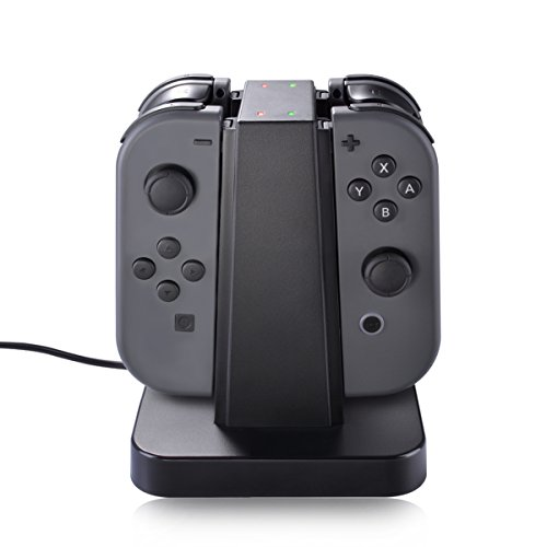 JoyCon Charger Dock for Nintendo Switch Joy-con Controller Stand 4 in 1 Charging Accessories with LED Indication for Nintendo Switch Joy Con