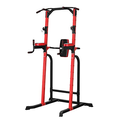 ZENOVA Power Tower Pull Up Gym Tower,Dip Stand Bar Used as Squat Rack, Multi-Function Fitness Workout Equipment for Home