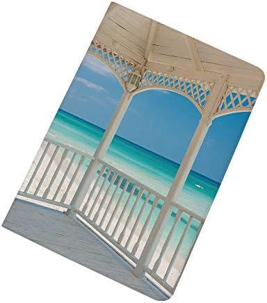 White Decor iPad Air 2 iPad Air Case Varadero Beach in Cuba from a Wooden Seem Terrace Image product image
