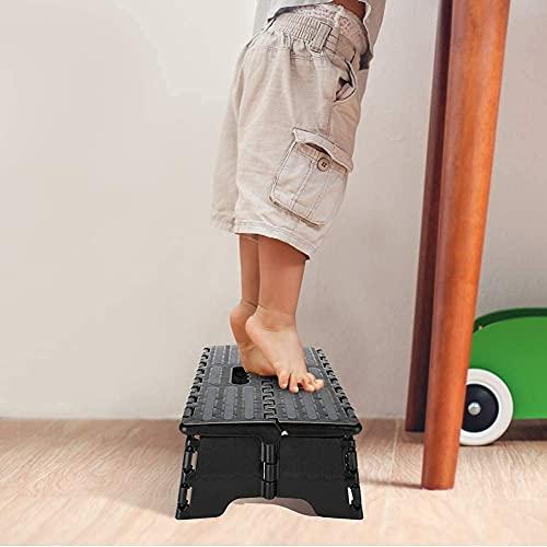 El taburete plegable del paso, taburete plástico portátil dobla el taburete plegable...