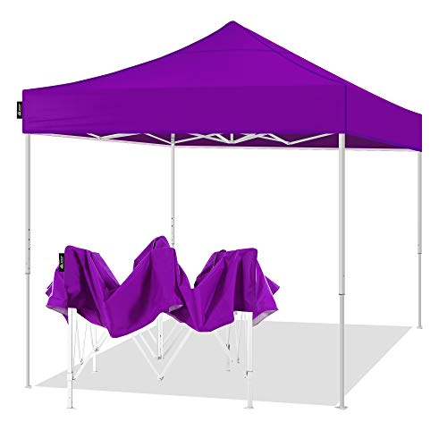 AMERICAN PHOENIX Canopy Tent 10x10 Easy Pop Up Instant Portable Event Commercial Fair Shelter Wedding Party Tent (Purple, 10x10)