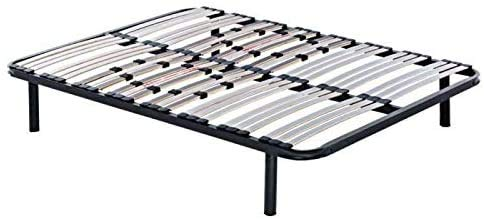 Todocama - Somier multiláminas con reguladores lumbares - Patas de Acero Incluidas - Láminas de Haya 100% de 33 mm con Acabado Antihumedad y Antideslizante. (200 x 200 cm)