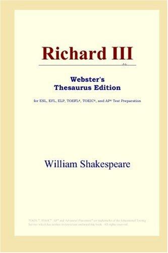 Download Richard III (Webster's Thesaurus Edition) 0497253569