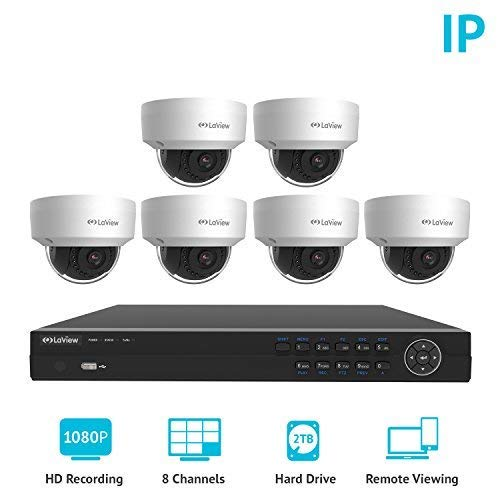 LaView 8 Channel Full HD 1080P Business and Home Security Camera System
