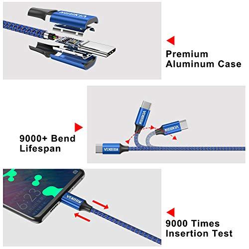 NIBIKIA USB C Kabel, [4Pack 0.5M 1M 2M 3M] 3A Ladekabel Typ C und Datenkabel Fast Charge Sync Schnellladekabel für Samsung Galaxy S10/S9/S8+,Huawei P30/P20,Google Pixel,Xperia XZ,OnePlus 6T