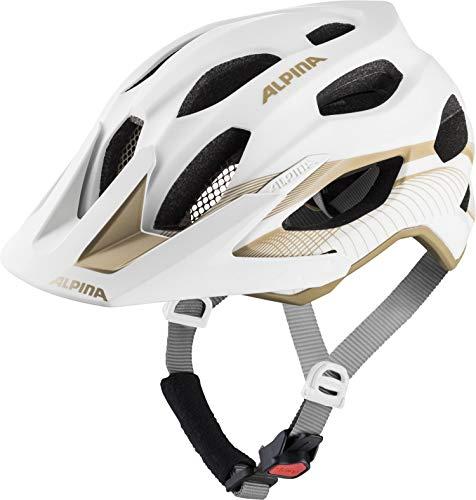 Alpina Damen Carapax 2.0 Fahrradhelm, White-Prosecco, 52-57 cm