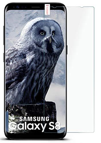 moex Panzerglas kompatibel mit Samsung Galaxy S8 - Schutzfolie aus Glas, bruchsichere Displayschutz Folie, Crystal Clear Panzerglasfolie, 1x Stück