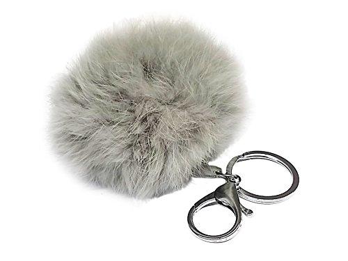 La Loria llaveros -Woolly- en gris, colgante de felpa, remolque de fel