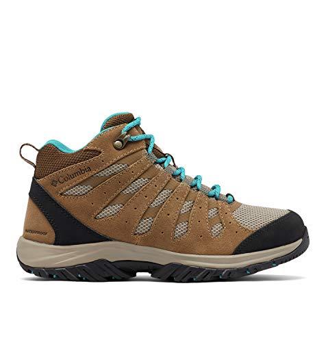 Columbia Redmond III Mid Waterproof, Zapatillas para Caminar Mujer, Nivel del mar Khaki, 38.5 EU