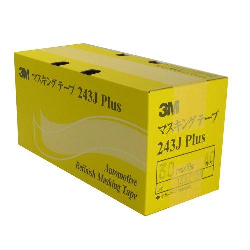 243J PLUS マスキングテープ 30ミリ×18M 40P