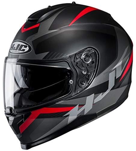 Preisvergleich Produktbild Motorradhelm HJC C70 TROKY MC1SF,  Schwarz / Grau / Rot,  M