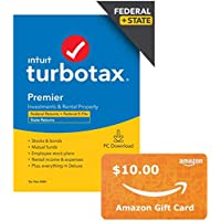 TurboTax Premier 2020 [PC Download] + $10 Gift Card