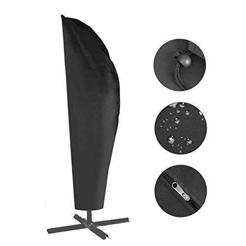 Herefun Schutzhülle für Ampelschirm - 420D Sonnenschirmhülle Abdeckhauben für Sonnenschirm für Schirm 2.5 bis 3.5 m Abdeckung mit Reißverschluss und Zugkordel Schirmhüll für Wetterfeste Outdoor