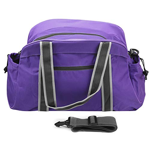 Bolsa de gimnasia de tela Oxford, bolsa plegable, correas de hombro ajustables, bolsa deportiva para equipaje, bolsa de fitness, fitness al aire libre(purple)