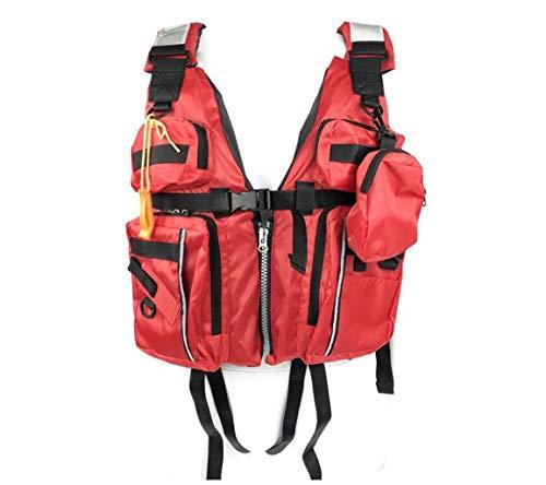 XGHW Fliegenfischen Weste Taschenjacke Im Freien Schnelltrocknende Netzweste Im Freien Freizeitangeln Weste Reisefotografie Weste Schwarz Männer Und Frauen (Color : Red, Size : One Size)