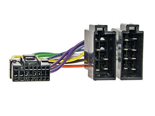 Cable de conexión para radio ACV 456007 compatible con radios FãŒR Sony de 16 pines a ISO