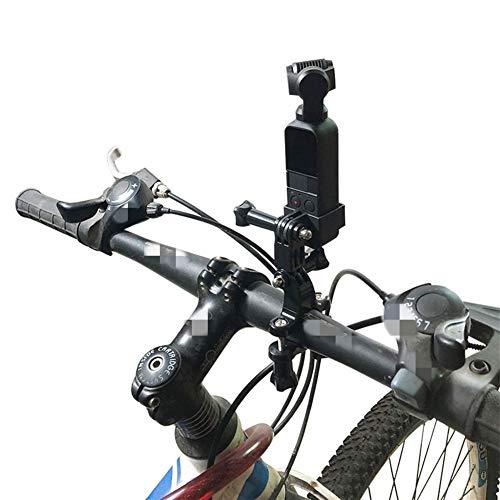 FUQUANDIAN Montaje de la Bicicleta Manillar de la Bici de Seatpost del sostenedor del trípode mordaza for dji OSMO Bolsillo portátil cardán cámara Acesórios Accesorios de Soporte (Color : Black)