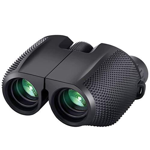 AVEDISTANTE Mini Binoculares para Principiantes, Portátiles Prismáticos 10 x 25 Binoculares de Largo…