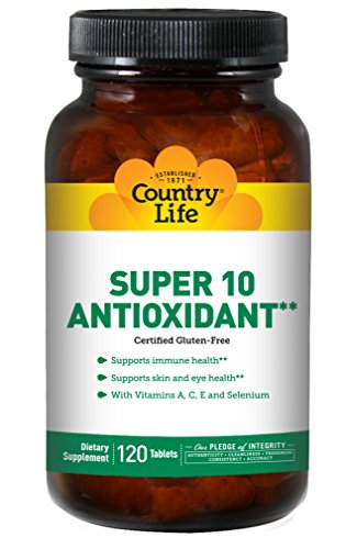 Country Life  Super 10 Antioxidant with Vitamin A C E and Selenium  120 Tablets