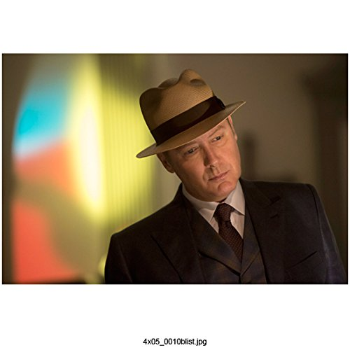 The Blacklist James Spader as Raymond Reddington Close Up Wearing Hat 8 x 10 inch Photo