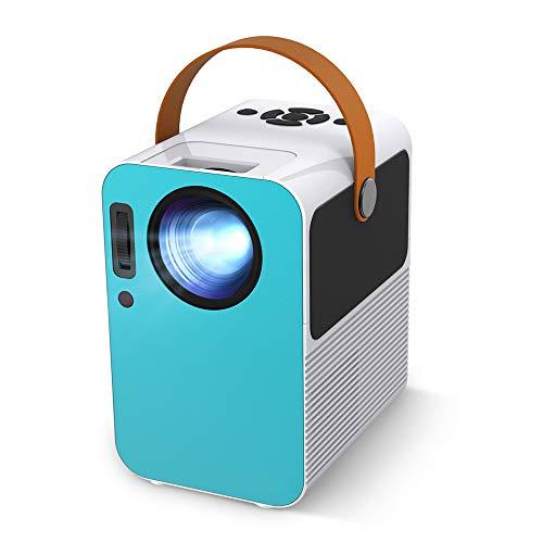 Maxesla Proyector - Mini Proyector Portátil en Casa, Soporte HD 1280P, Pantalla Grande, Altavoces Duales, 20000 Horas Vida, Compatible con TV Stick/PS4/HDMI/VGA/AV/USB/Android/IOS