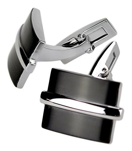 International Connection Design – Boutons de manchette en acier inoxydable mat – moderne design industriel 2. Choix