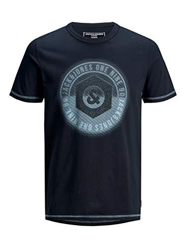 JACK & JONES Herren JCOLOGO-Universe Tee SS Crew Neck Camp T-Shirt, Sky Captain, S