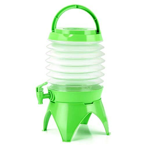 Tanque Agua 5L Bidón Plástico Con Grifo Plegable Contenedor De Agua Con Espita, Emergencia Jarra Portadora De Almacenamiento De Agua Cubo De Agua Por Cámping Al Aire Libre Plegable Portátil Bolsa De A