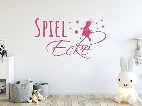 GRAZDesign Spielzimmer Deko Spielecke Wandtattoo Fee mit Sternen, Kinderzimmer Wartezimmer Kinderzelt Bereich Aufkleber / 70x40cm / 035 pastellorange