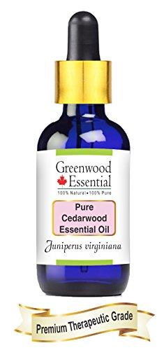 Greenwood Essential Pure Cedar Wood Essential Oil, Juniperus Virginiana, 50 ml