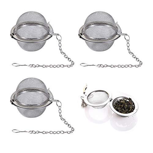 3PCS Tea Infuser, Upgraded Tea Strainer, Premium Tea Infusers for Loose Tea, Tea Steeper, Tea Ball for Tea Flavoring Herbal Spices Seasonings