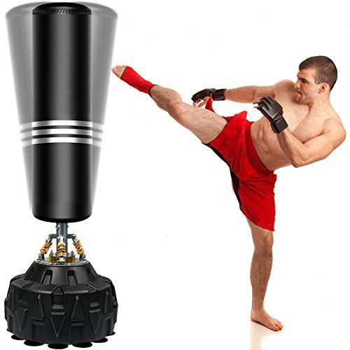 ZILINGO Boxsack Erwachsene Freistehender Standboxsack MMA Boxpartner Boxing Trainer Heavy Duty Boxsack mit Saugfuß, für Anfänger, Amateure und Profis