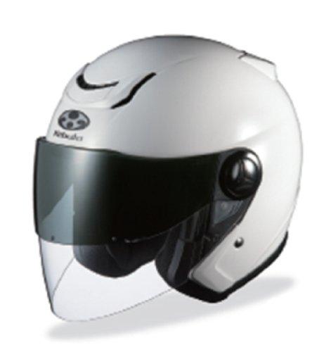 オージーケーカブト(OGK KABUTO)バイクヘルメット ジェット AFFID-J ホワイトメタリック (サイズ:L)
