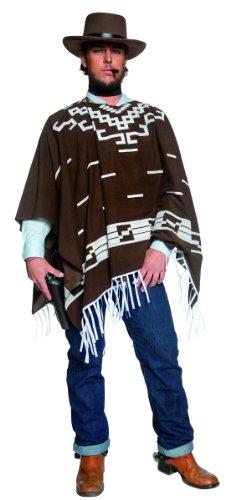 KULTFAKTOR GmbH Cowboy Kostüm Poncho braun-Weiss M