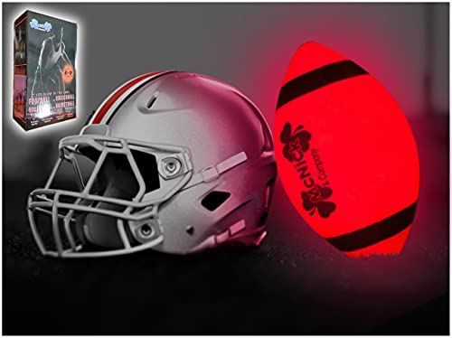 LED Glow in The Dark Youth Football - 100 Hour Battery Life - Light Up Football