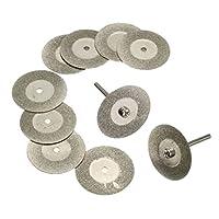 研磨カッター ダイヤモンドカッティングディスク 全13サイズ選択 ロータリー工具 ミニルーター 穴付き/なし - 穴なし20mm