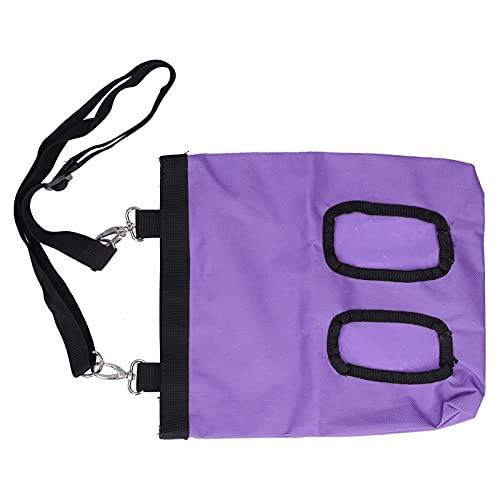 Bolsa de alimentación de heno para Mascotas, Ligera y Plegable, Resistente a la Suciedad y Lavable Bolsa de alimentación para Animales pequeños con Bolsa de alimentación de heno para(Purple)