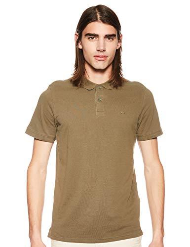 JACK & JONES Herren JJEBASIC Polo SS NOOS Poloshirt, Grün (Olive Night Detail: Slim Fit), Medium