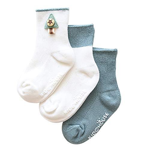 Calcetines Los Calcetines para bebés Infantiles Son Antideslizantes, Calcetines para niños pequeños, Soft, Agradable y Piel, 0-3 años de Edad, niñas, 3 Pares (Color : B, Size : 0-12 Months)