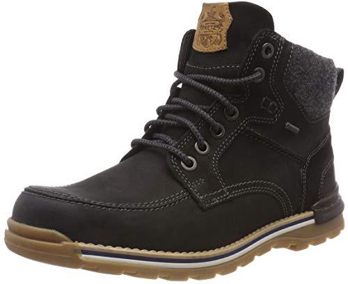 Fretz Men Cooper Chukka Boots, Winterschuhe Herren, rutschfeste Profil-Sohle, Nubuk-Leder, GORE-TEX, 100% wasserdicht und warm, Schwarz (Noir 51), Größe 41 EU