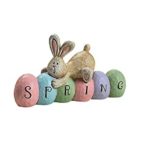 ✿✿【Perfect Easter Gifts】The rabbit is one of the symbols of Easter, give it to family and friends as a gift and bring them good luck. The adorable spring Bunny Figurine is a good home decoration in Easter Day, And dress up spring party, wedding, birt...