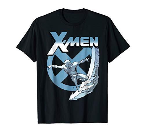 Marvel X-Men Iceman Blue X Epic Cold Slide Graphic T-Shirt