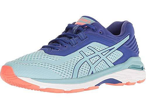 ASICS Women's GT-2000 6 (D) Running Shoes, 5.5W, Porcelain Blue/Porcelain Blue/